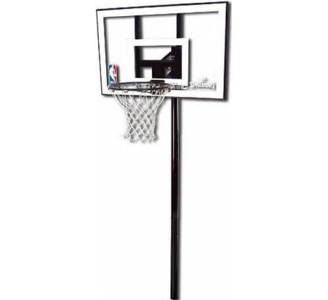 "Баскетбольна стійка Spalding Silver In-Ground - 44 ""Polycarbonate 88596CN"